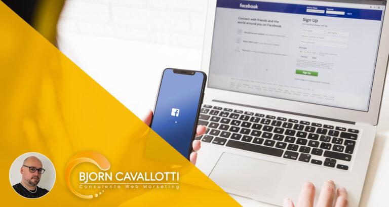 gestire pagina facebook